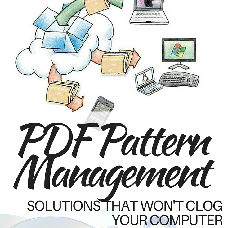 Instead of clogging up your computer with all those free pdf patterns try one of these simple pdf storage solutions. The Sewing Loft