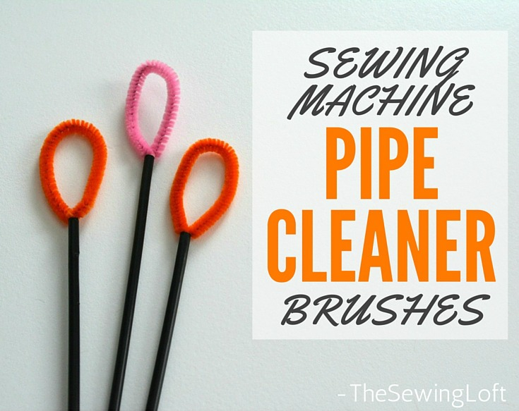 You can get in every last nock & cranny to grab all the dust bunnies hiding inside your sewing machine with this pipe cleaner brush. Learn how to make it on The Sewing Loft