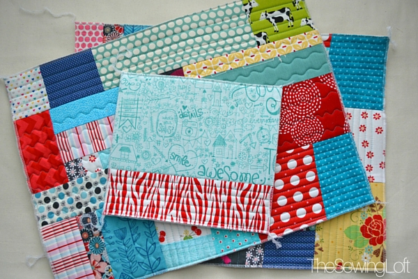 These scraps are about to become the Ultimate Travel bag. I'm stitching along with Annie's class and can not wait to finish.