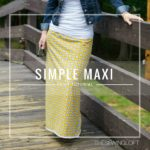 Update your closet with a simple maxi skirt pattern. This step by step tutorial will show you how to create a personal pattern and sew it together.