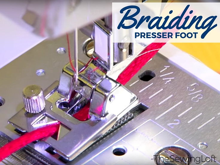 Add decorative details to your sewing project with the braiding foot. This foot will help you attached small trims with precision and ease. Learn how.