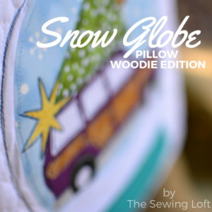 This festive snow globe inspired DIY applique pillow is the perfect addition to my Christmas home decor. The cover makes it easy to pack away for next year.