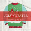 This ugly Christmas sweater block is so cute for the holidays!