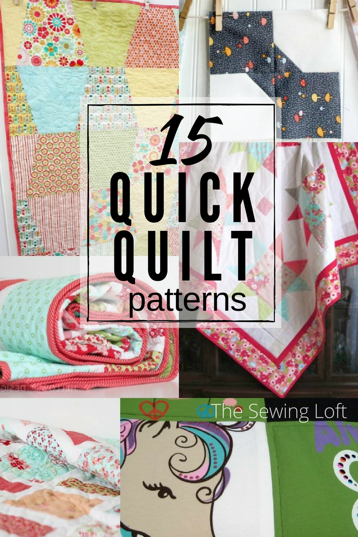 Want to sew something fast? Check out these 15 quick quilt patterns and start stitching today. I'll bet you can have them finished the same day.