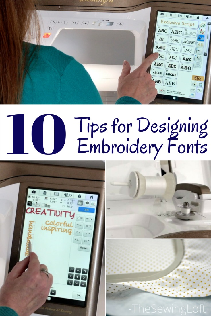 Top 10 Embroidery font tips to help you create the perfect design to personalize your project. These tips are so helpful no matter what type of project you stitch out.