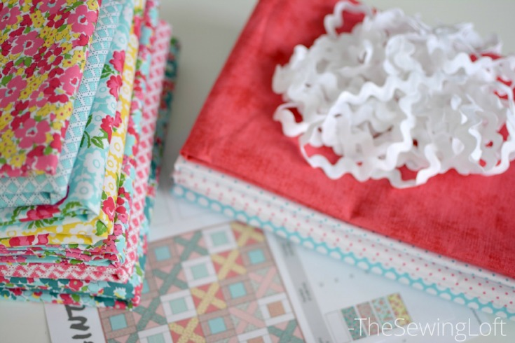 The Dainty Darling fabric line by Lindsay Wilkes has just hit the stores and I could hardly wait to test one of my new quilt patterns with it.