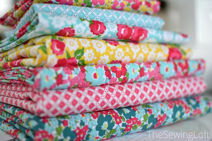 I am loving this Dainty Darling fabric stack. It was so much fun to slice into.