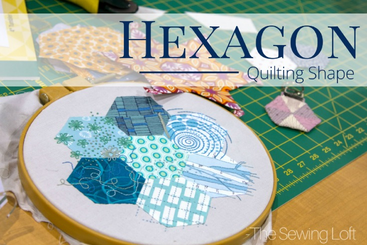 Hexagons are a popular quilting shape from yesteryear that is perfectly sized for fussy cutting and english paper piecing.