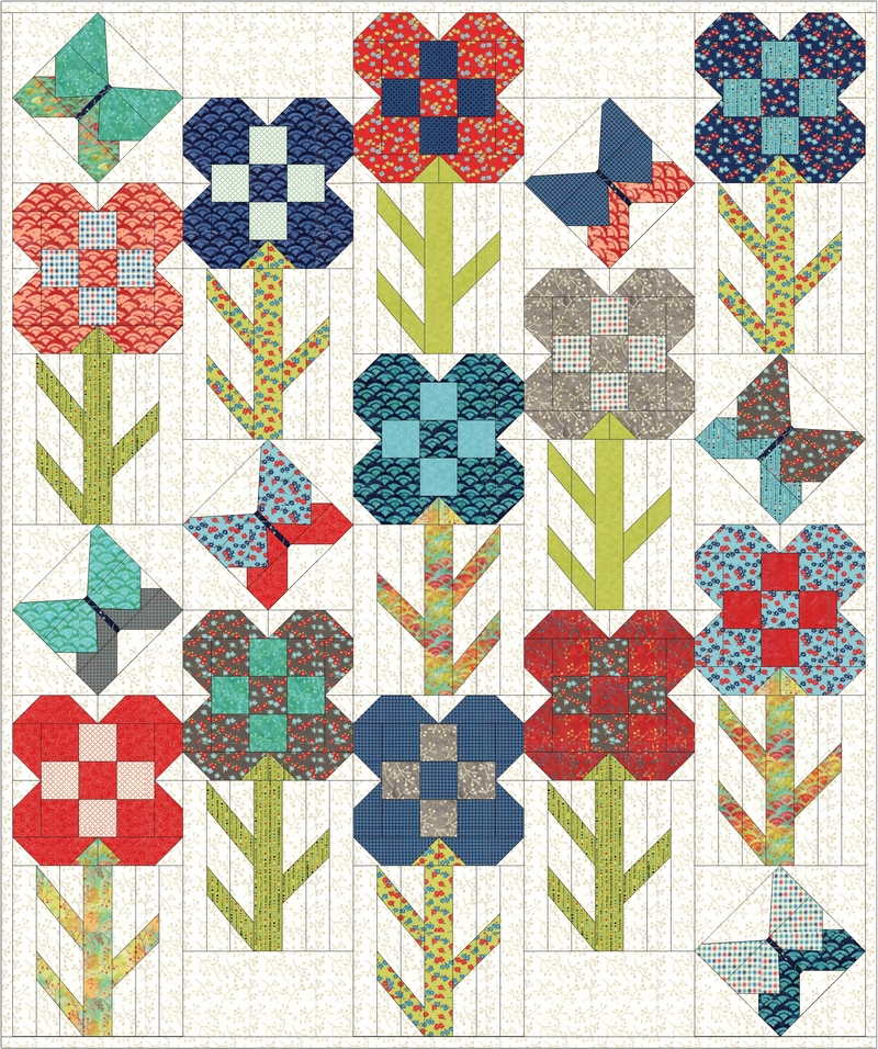 Come stitch along with us on the Dandy Drive quilt tour.
