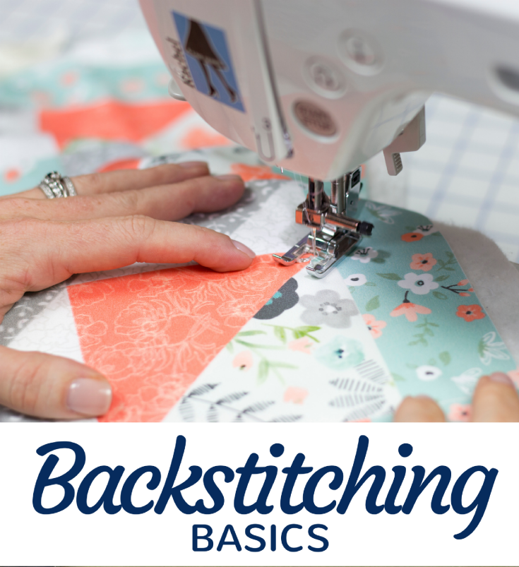 Backstitching in sewing is a great way to lock your seam in place. Learn the basics of this everyday sewing stitch on the machine and by hand.