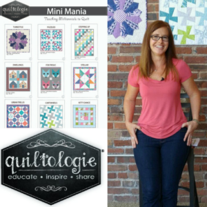 Sneak peeks from the set of Quiltologie with behind the scene photos from the latest Quiltologie Mini Mania sewing tip videos.