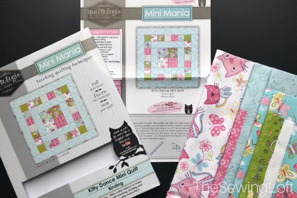 Expand your quilting knowledge while making something fun with the Quiltologie mini quilt. Includes video how to for simple binding technique.