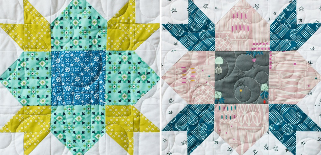 Color inspiration for the Wildflower quilt block from Heartland Heritage. Learn helpful tips to stitch this block like a pro.