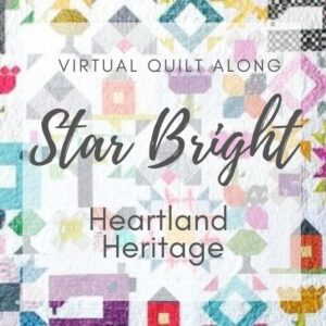 The Star Bright block from Heartland Heritage is so easy to make and perfect for practicing HST's. Learn easy tips to ensure sewing success.