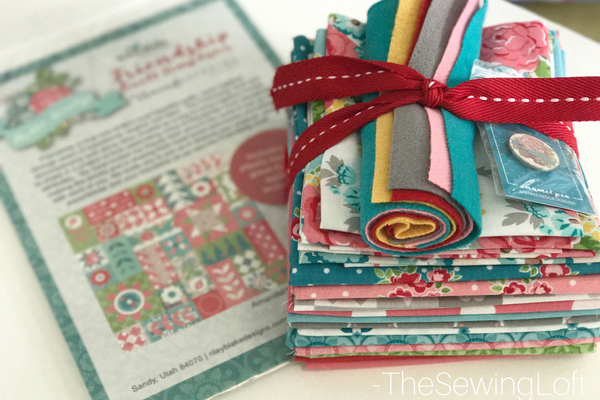 Hello Lovely- talk about happy mail! This bundle pack is the perfect quilt kit. I can not wait to start the Friendship Quilt Along. Come sew with us. Pattern by Amanda Herring.
