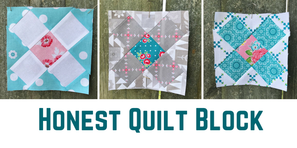 Honest Quilt Block is a skill builder. Friendship Quilt Along Free Pattern