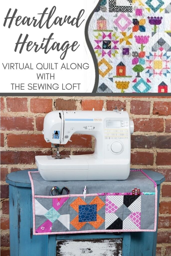 Use your favorite quilt blocks from Heartland Heritage to make other projects. Like this sewing mat.