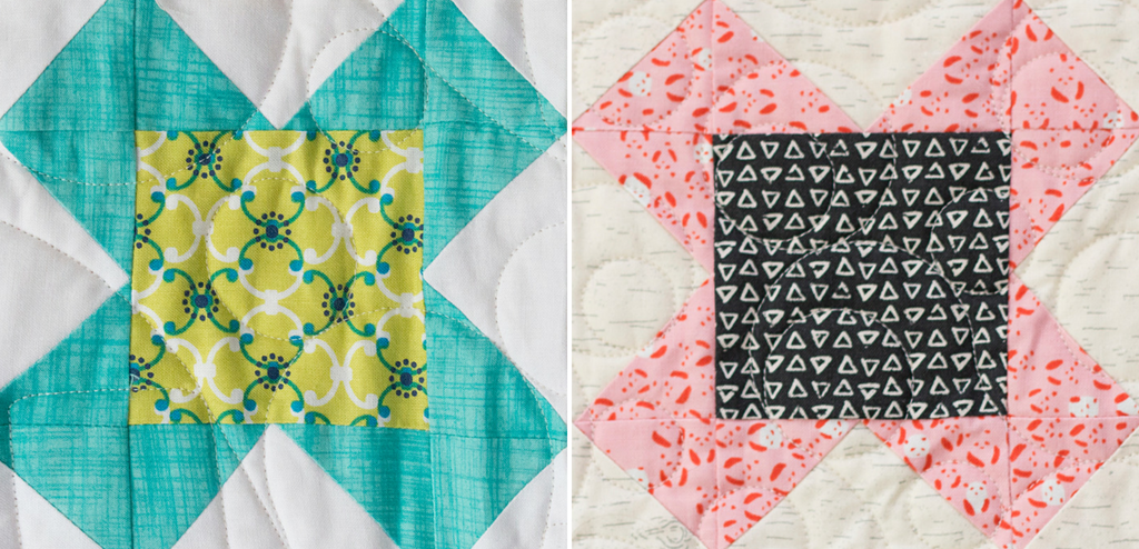 """Grab your left over fabric scraps and stitch up the Sweet Pea quilt block. The block finishes 6"""" square and is from the Heartland Heritage quilt pattern."""