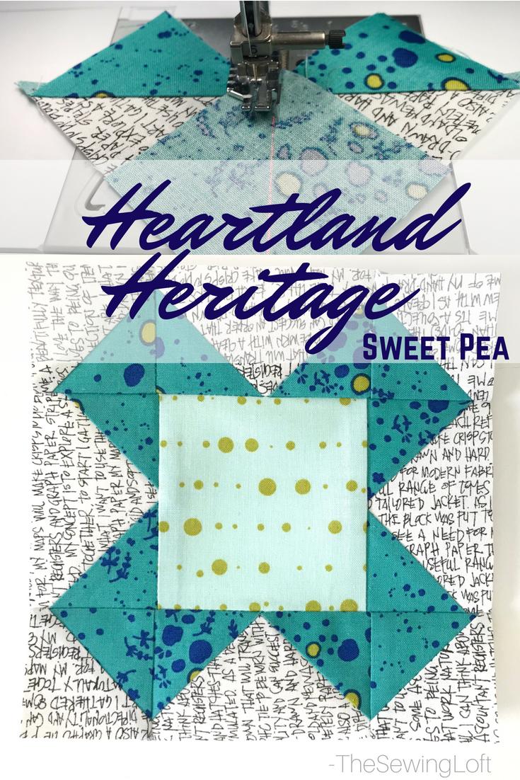 Sweet Pea Quilt Block   Heartland Heritage