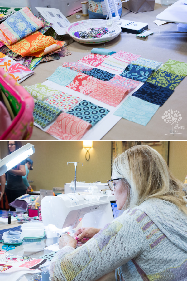 Sew Scrappy Sewing Retreat Space