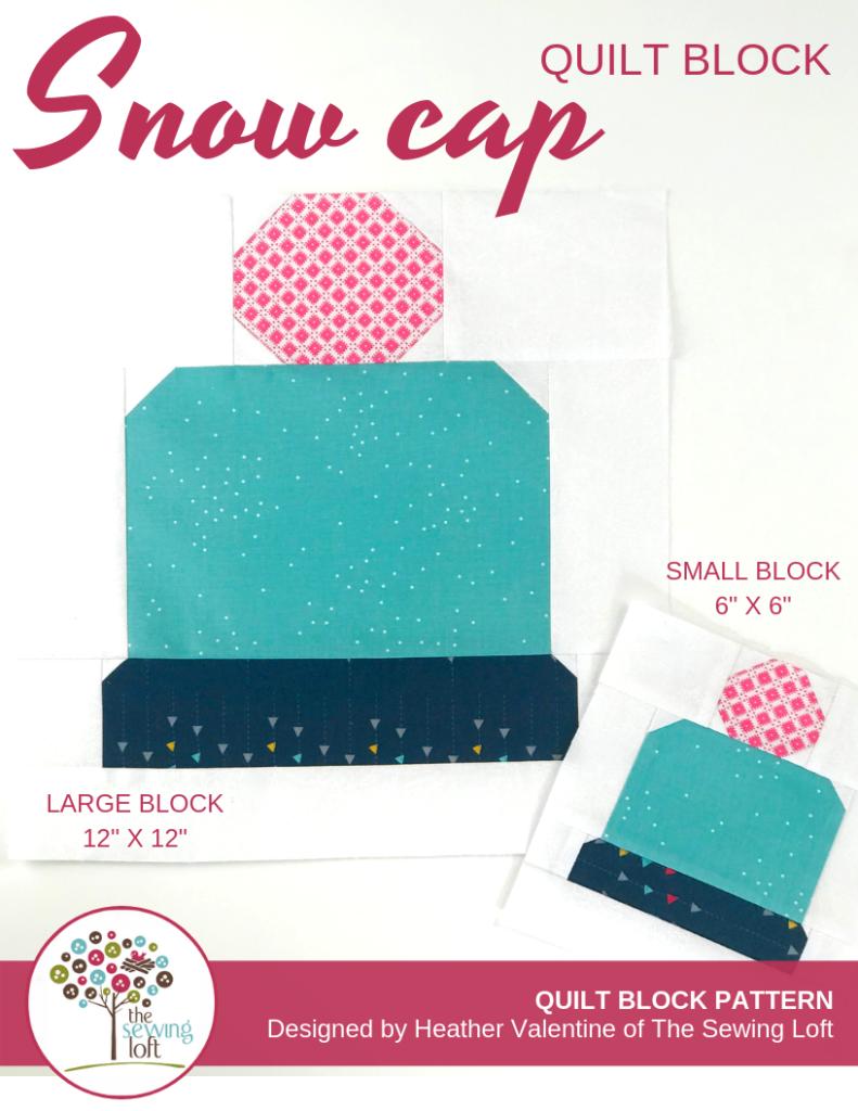 Snow Cap Quilt Block   The Sewing Loft Blocks 2 Quilt
