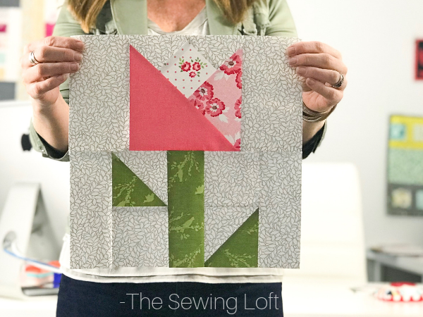 Coming Up roses Quilt Block - Keep your quilting skills sharp with the Blocks2Quilt series from The Sewing Loft