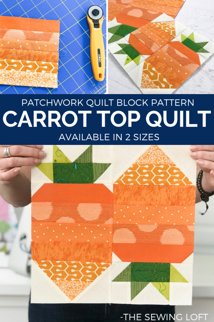 Carrot Top Quilt Block Pattern | The Sewing Loft