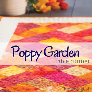 If your scrap pile is filled with one color family, you can easily turn them into a gorgeous table topper with the Poppy Garden Table Runner. This video class will walk you step by step through the pattern.