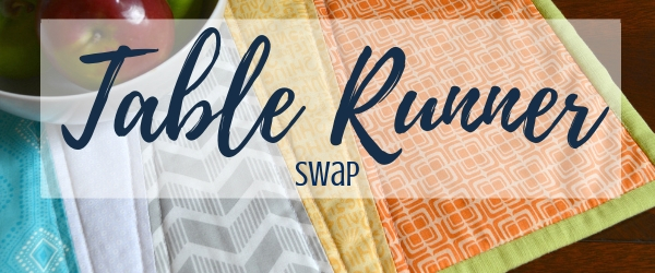Meet a new sewing buddy and exchange a handmade gift with the table runner 2019 swap with The Sewing Loft