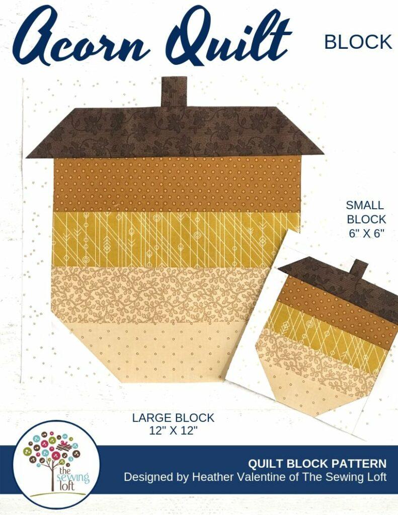 Acorn Quilt Block Cover | The Sewing Loft