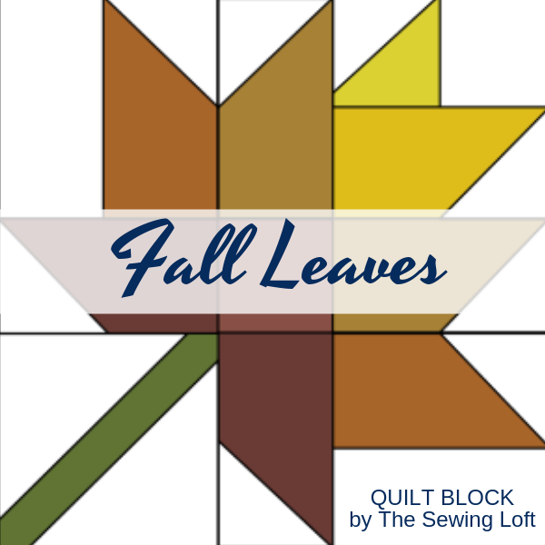 The simple patchwork construction of the Fall Leaves quilt block makes it perfect for the beginner quilter and fun for the experienced quilter to play with their scraps.