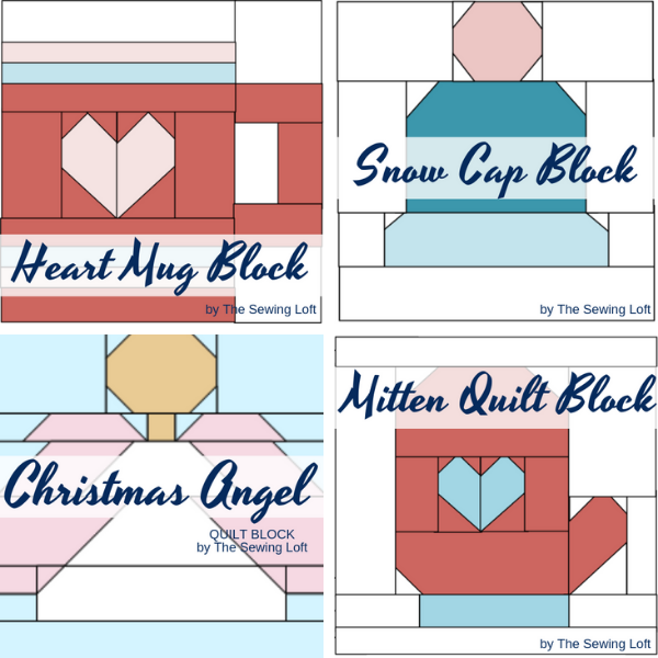 It's time to start stitching for the holidays so, grab your scraps and stitch together these adorable blocks.