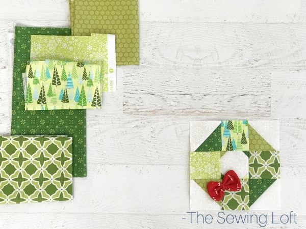Holiday Wreath Quilt Fabrics   The Sewing Loft