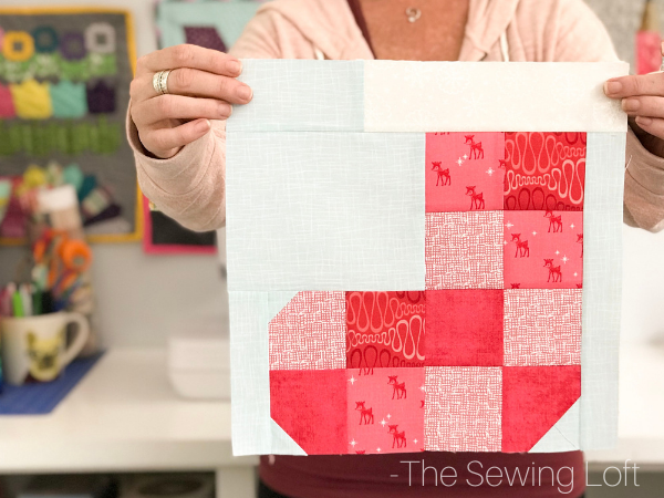 Patchwork Stocking Quilt Block | The Sewing Loft