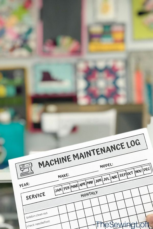 Put these sewing secrets into work and set yourself up for sewing success all year long! Be sure to download the machine maintenance log