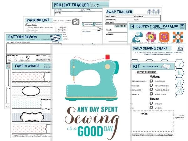 Make the most of your time at the machine with this Sew Organized Printable Pack. Over 30 printable sheets to keep you on track and stitching up a storm!