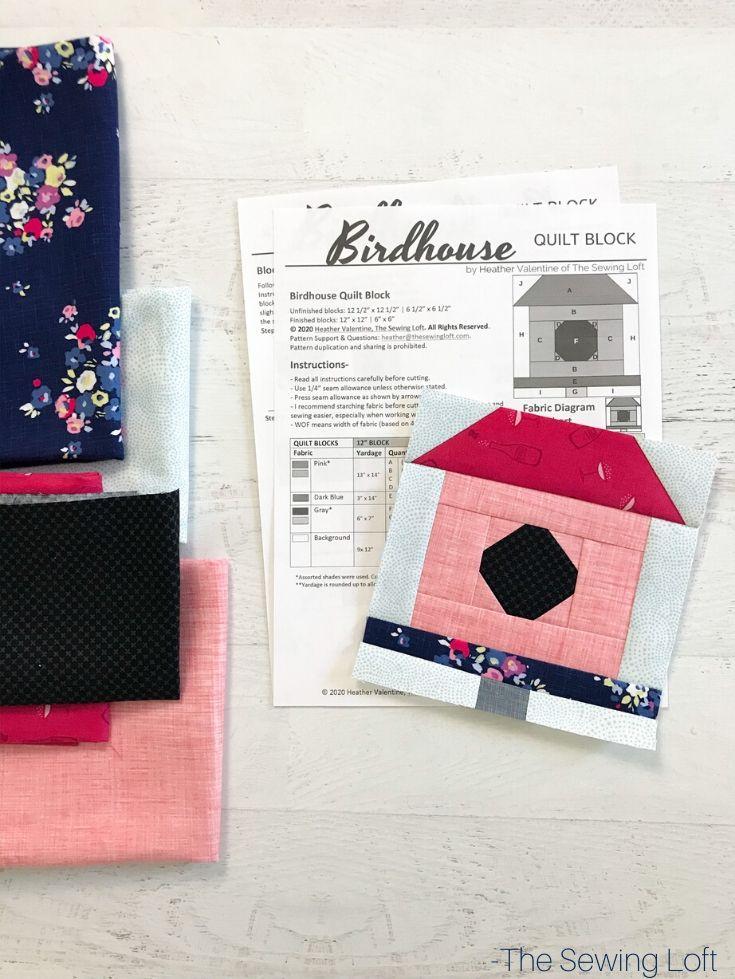 Birdhouse Quilt Block | The Sewing Loft