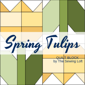 Transform your fabric scraps into a garden of your own with the Spring Tulips Quilt Block from The Sewing Loft. Easy to make and available in 2 sizes.