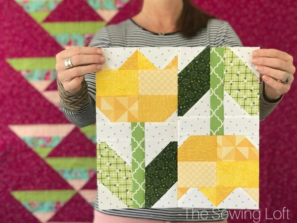 Add the Spring Tulips quilt block to your library and see how easy it is to expand your quilting skills. Each week a new block is released on The Sewing Loft.