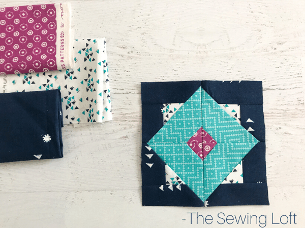 Diamond Sky Quilt Block Pattern   The Sewing Loft