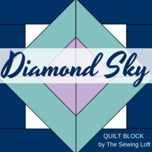 Diamond Sky Quilt Block Pattern | The Sewing Loft