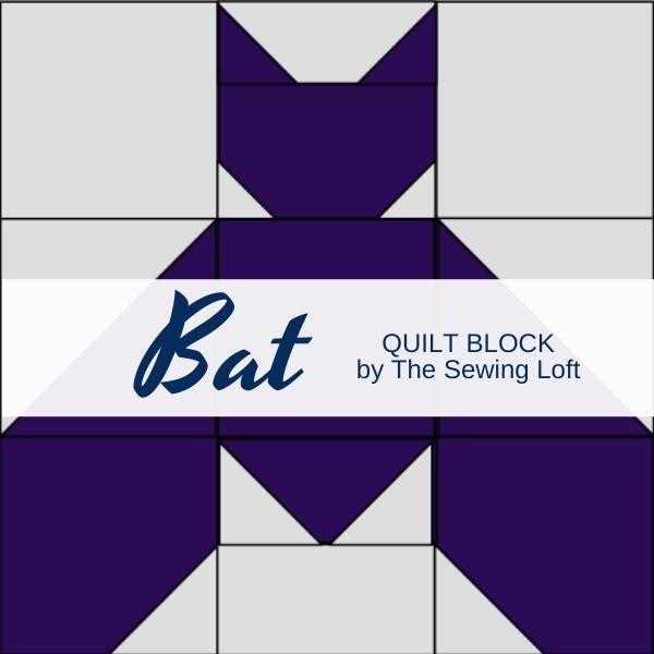 Halloween Inspired Bat Quilt Block | The Sewing Loft