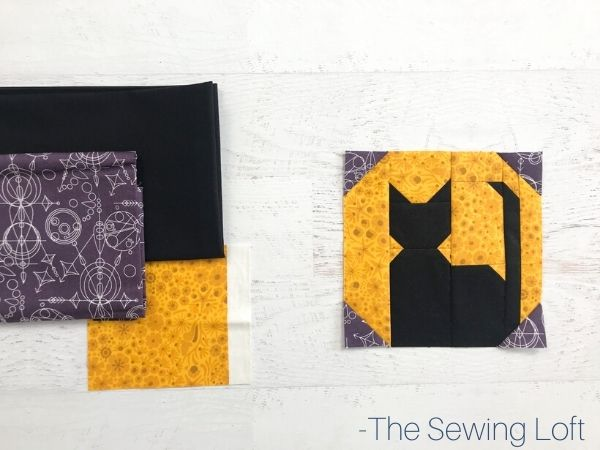 Add the Silhouette Moon quilt block to your Halloween themed quilting projects. Easy to make, available in 2 finished sizes and includes video assembly.