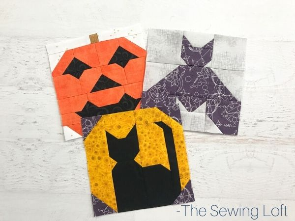 Spooky Halloween Quilt Blocks from The Sewing Loft