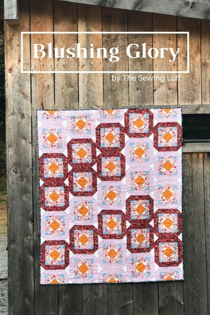 Blushing Glory Quilt Design stitched in Morrison Parks Fabrics