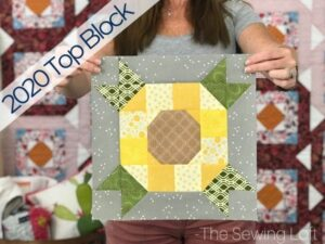 The simple patchwork Sunflower block is a top pick of 2020.