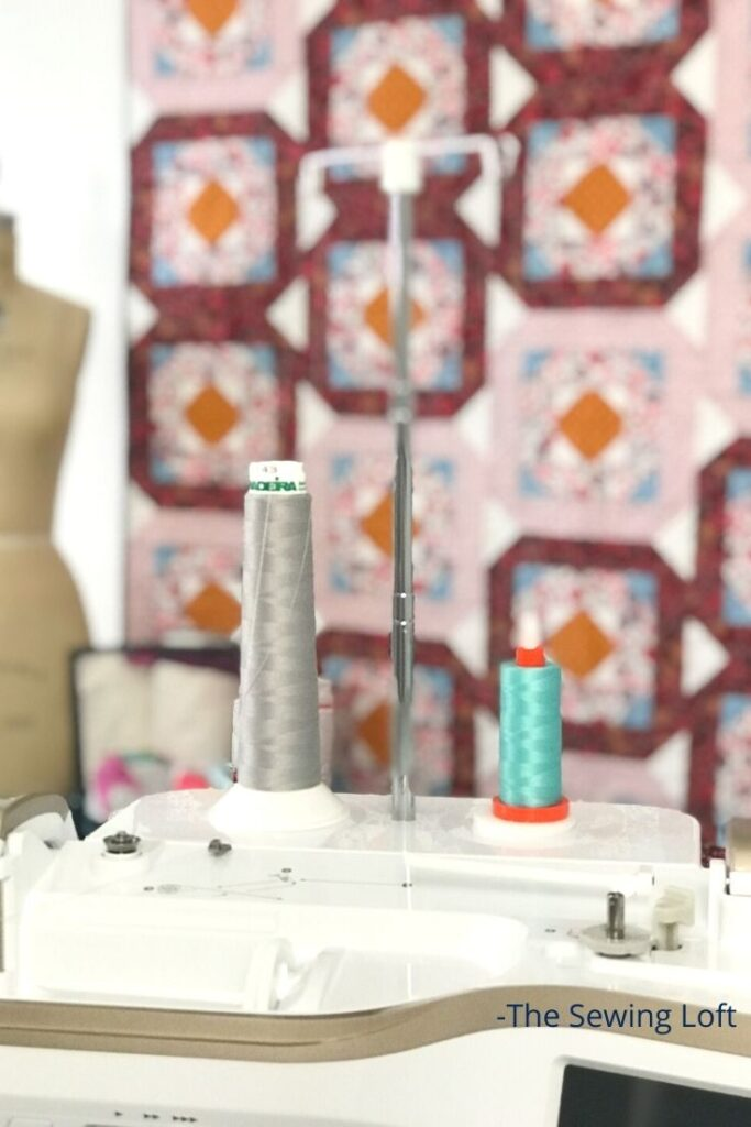 Make the most of your sewing machine time with simple accessories like the spool stand. This attachment comes with many machines, is easy to install and so handy! Video included.