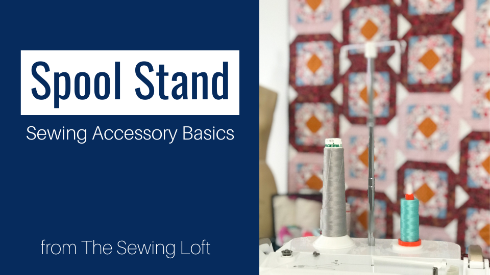Learn how the Spool Stand can help you make the most of your time at the machine. This helpful accessory is included with many sewing machines including the Baby Lock Altair. The video is helpful for set up and everyday use.