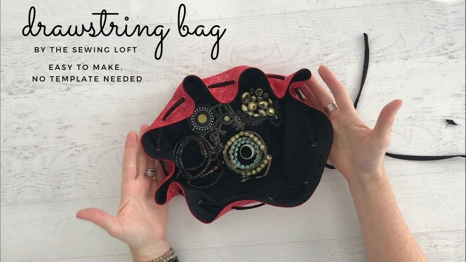 Stitch a beautiful drawstring jewelry bag using a serving plate and a few simple supplies. Free video class.