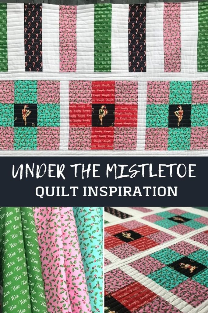 Stitch up a quick Christmas quilt and some Under the Mistletoe fabrics from Michael Miller. Easy patchwork, fussy cutting, and free template.